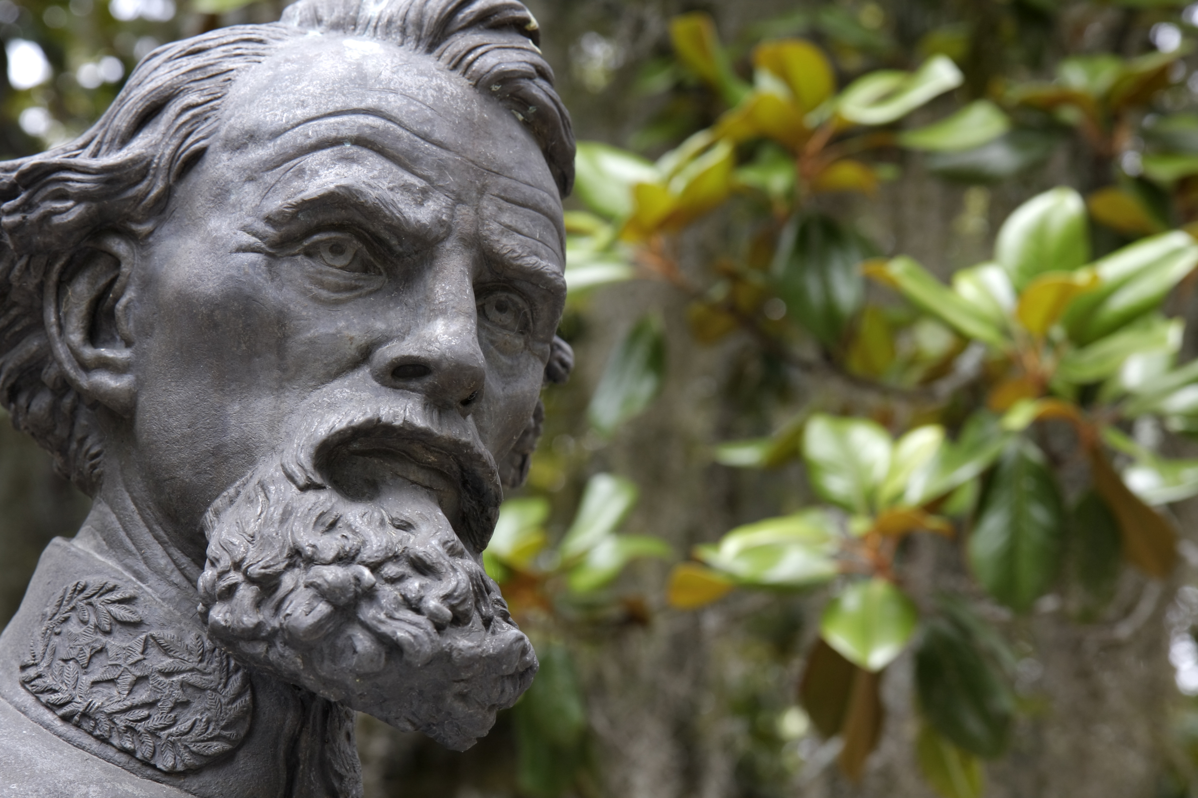 Nathan Bedford Forrest bust at Old Live Oak Cemetery in Selma, Ala.