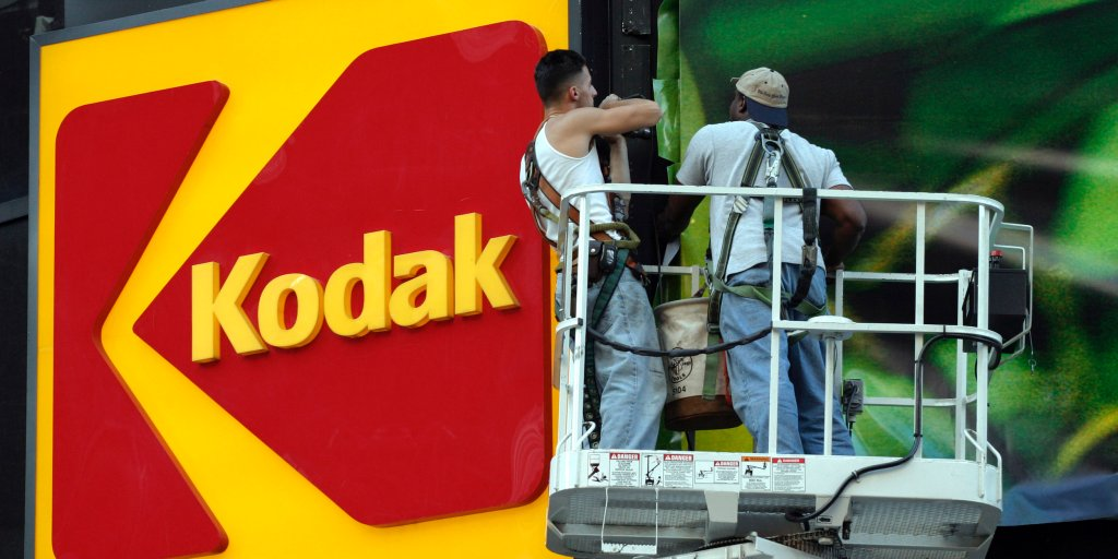 Image of article 'Kodak Shares Jump 2,441% After Winning Government Loan to Make Drug Ingredients to Fight Coronavirus'