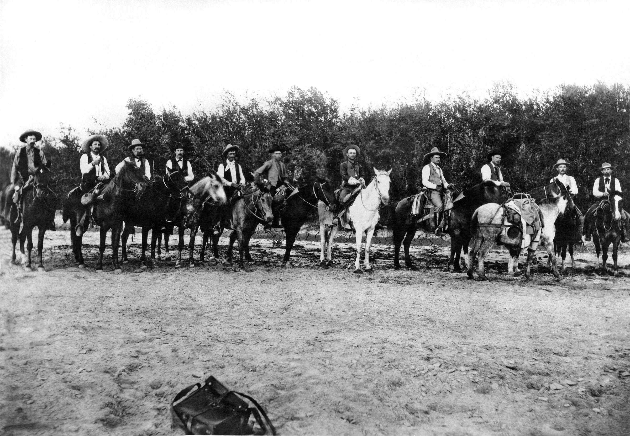 A Frontier Battalion of the Texas Rangers, Lela, Texas, circa 1885.