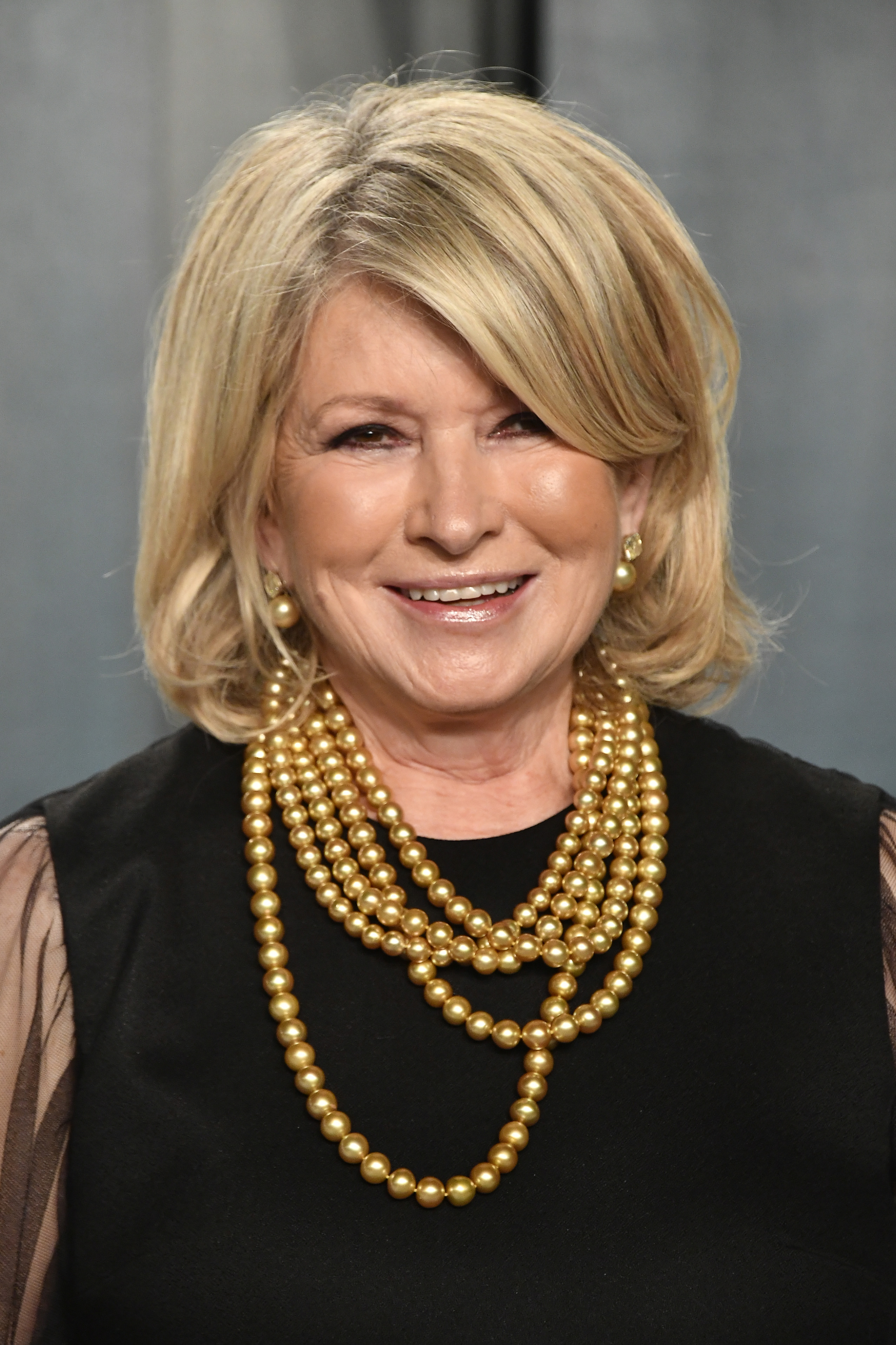 Martha Stewart attends the 2020 Vanity Fair Oscar Party on Feb 09, 2020 in Beverly Hills, California.