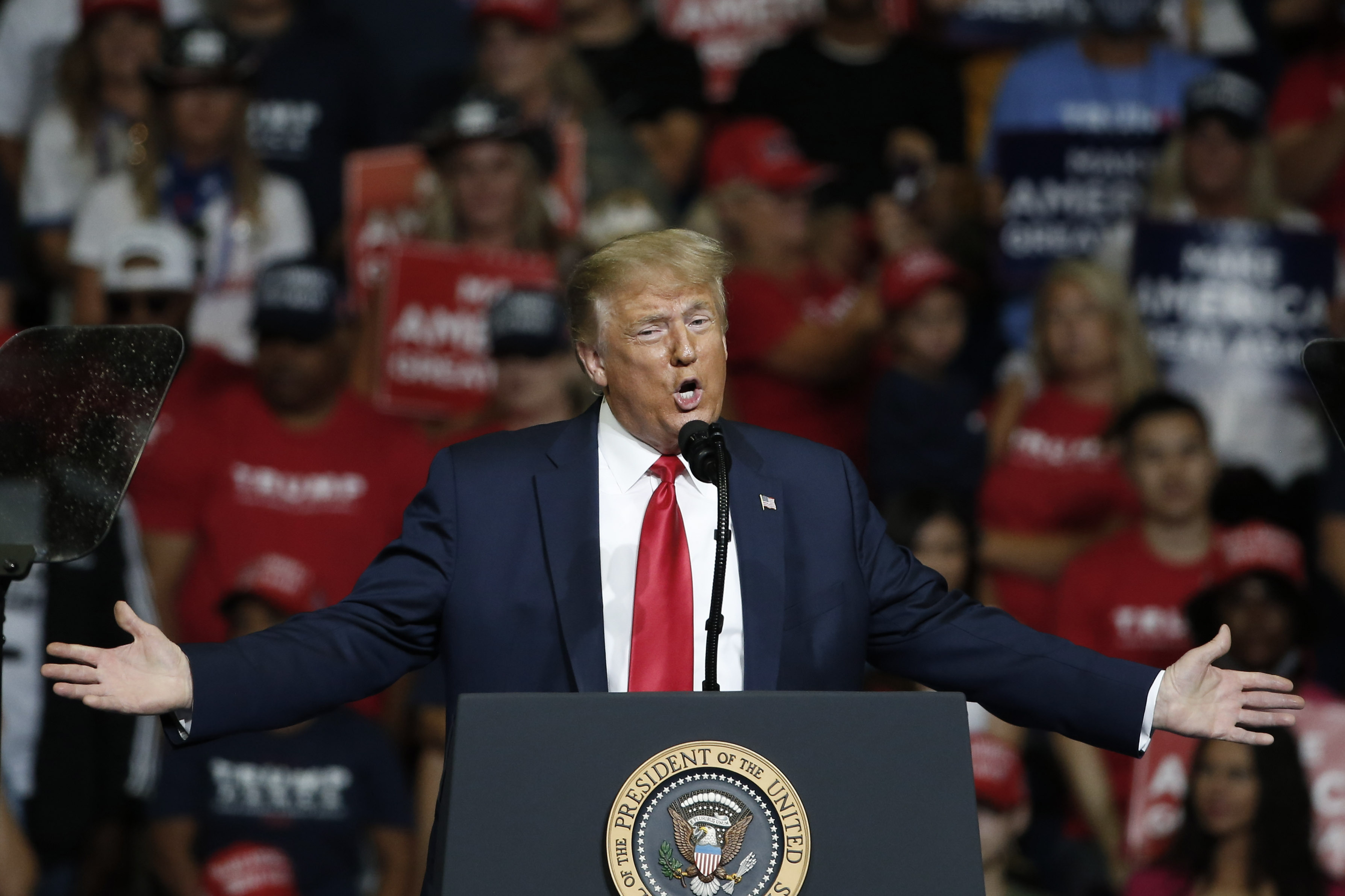 President Donald Trump speaks during a campaign rally in Tulsa, Okla. on June 20, 2020.