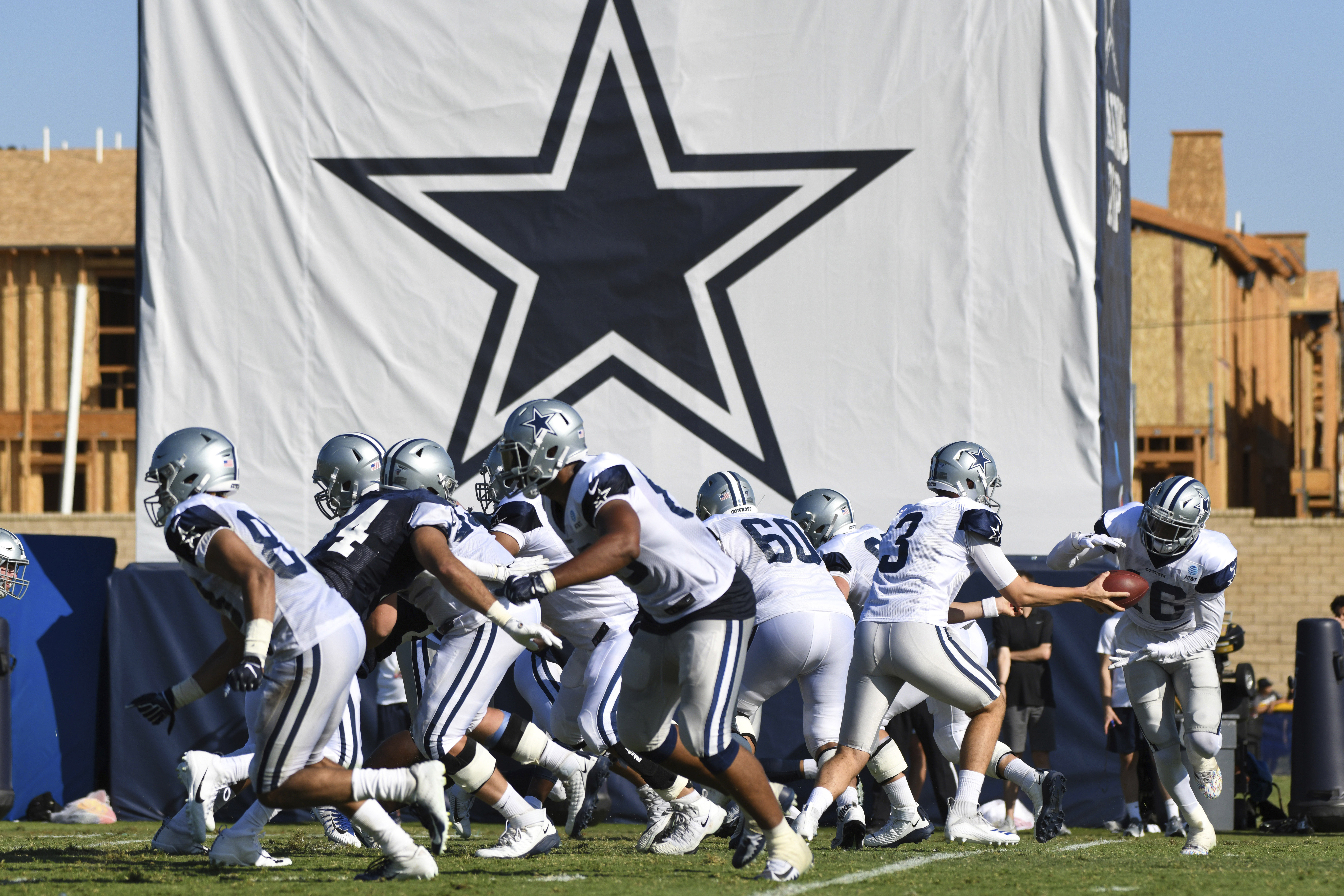 Dallas Cowboys practice at the NFL football team's training camp in Oxnard, Calif. on July 29, 2019.