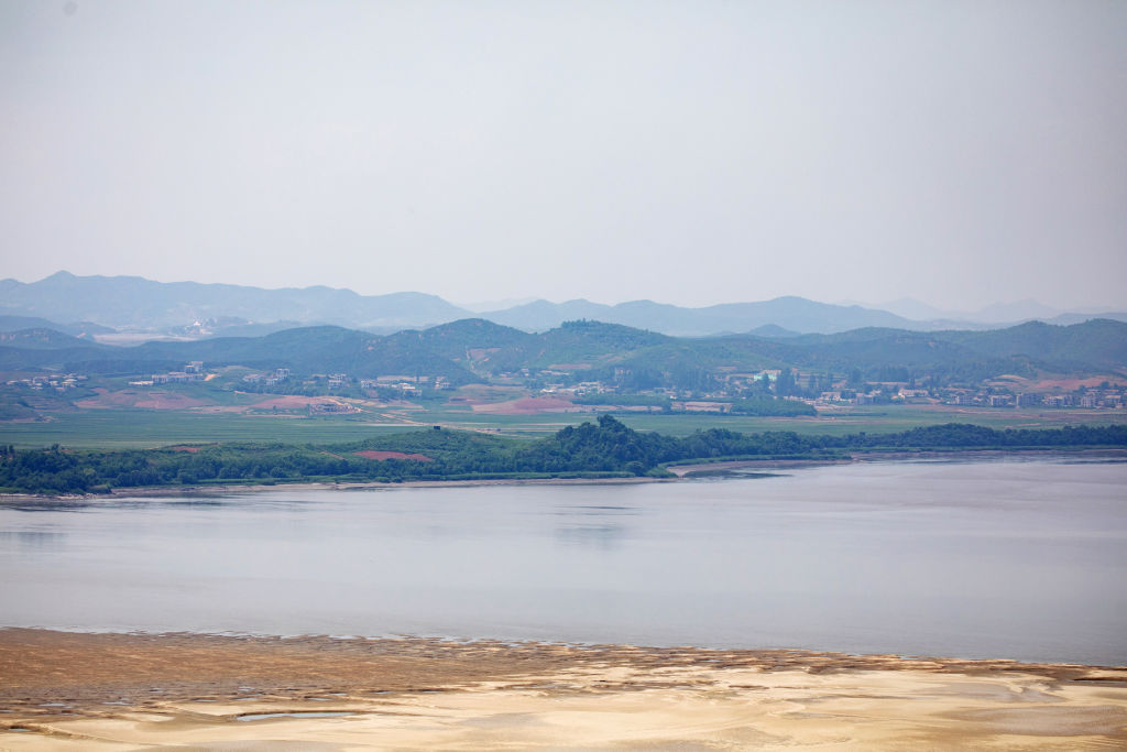 The North Korean village of Gaepung-Gun is seen from the Odusan Unification Observatory near the border in Paju, South Korea, on Wednesday, in Paju, South Korea, on Wednesday, June 17, 2020. North Korea said it would deploy troops into areas on its side of the border where it had joint projects with South Korea, further escalating tensions with its neighbor a day after destroying a liaison office the two once shared.
