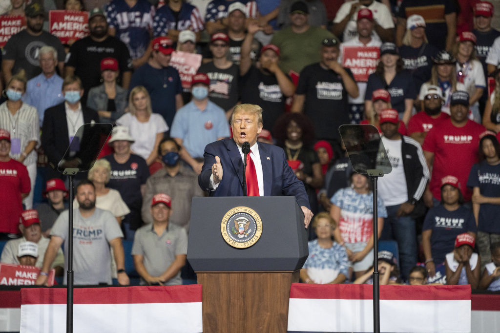 President Donald Trump speaks during a rally in Tulsa, Oklahoma, U.S., on Saturday, June 20, 2020.