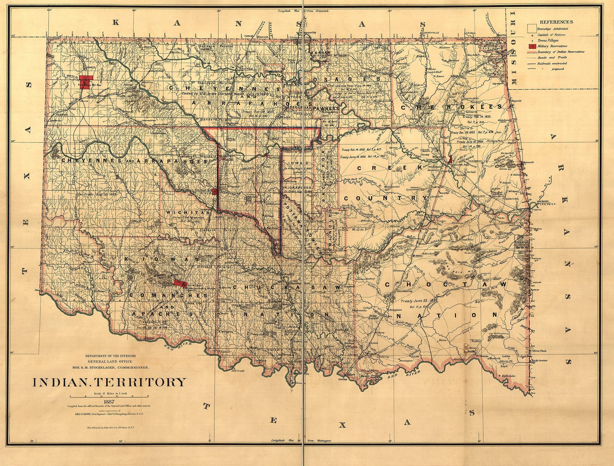 Indian Territory, Department of the Interior, 1887.