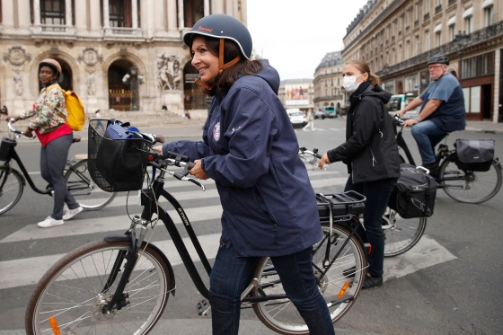 Hidalgo says she wants Paris to rank alongside Amsterdam and Copenhagen as havens for cyclists