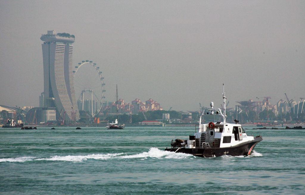 A Singapore coast guard patrols the Singapore Strait on Jan. 3, 2012.