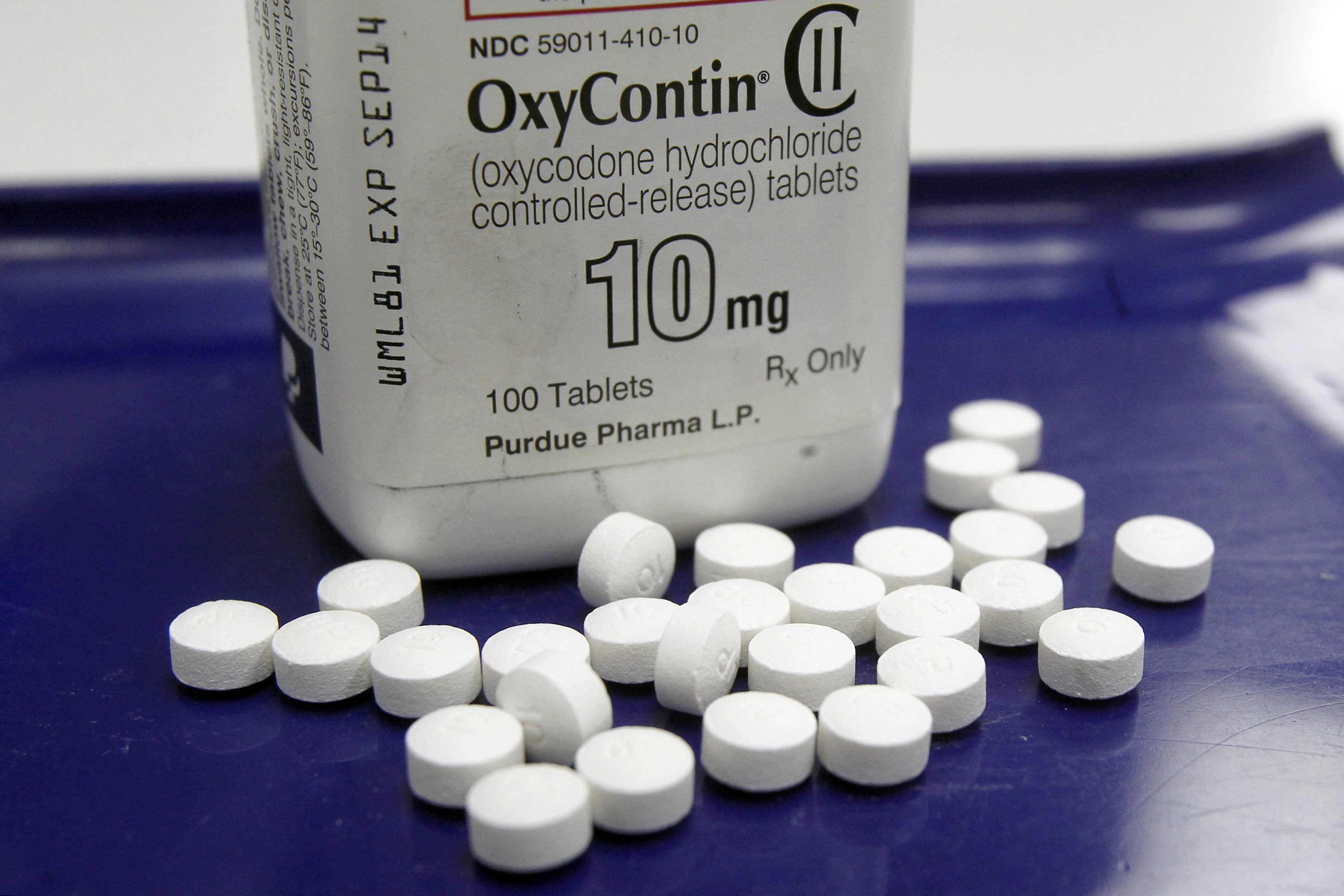 OxyContin pills are seen at a pharmacy in Montpelier, Vt. on Feb. 19, 2013.
