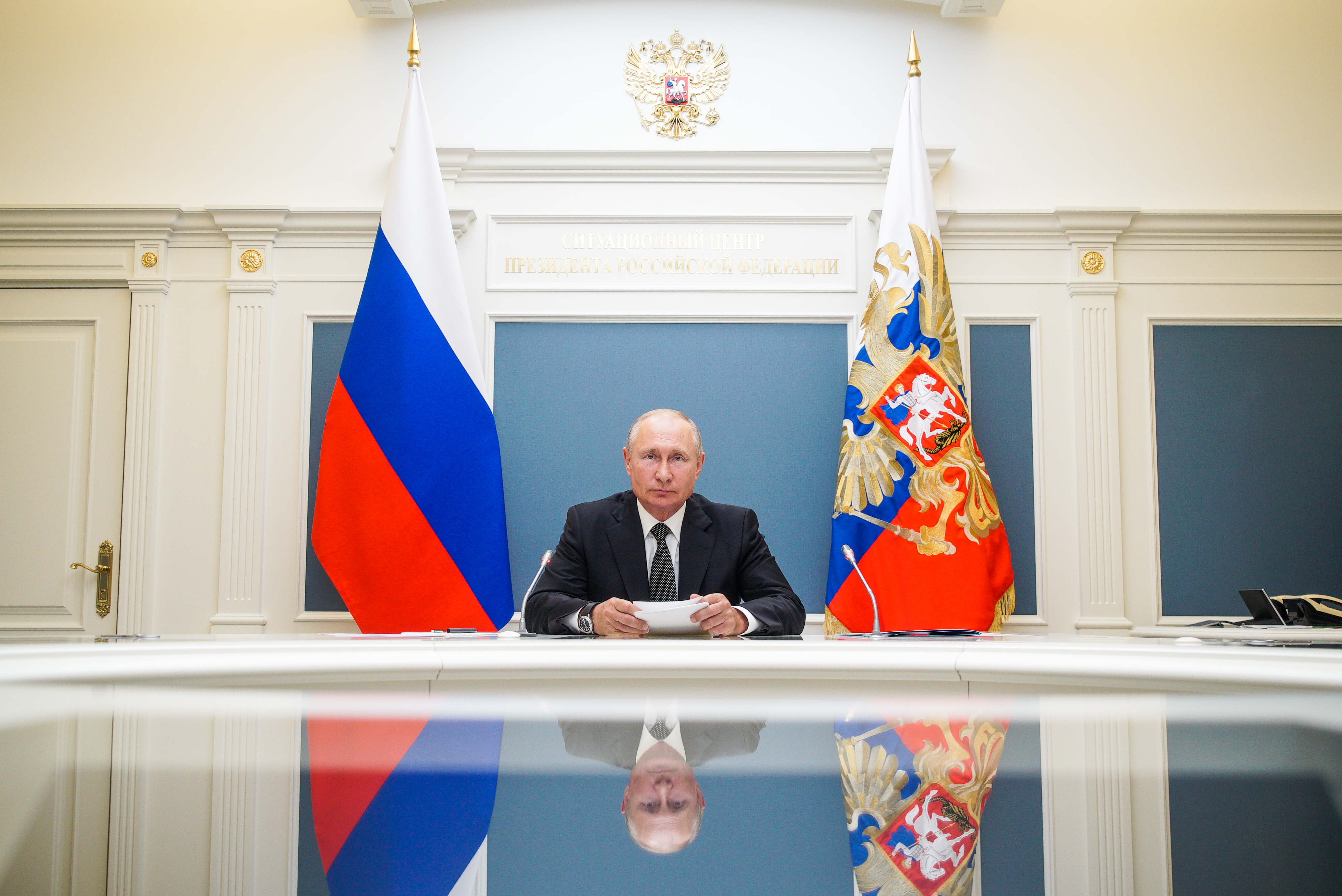 Russia's President Vladimir Putin pictured on June 30, 2020.