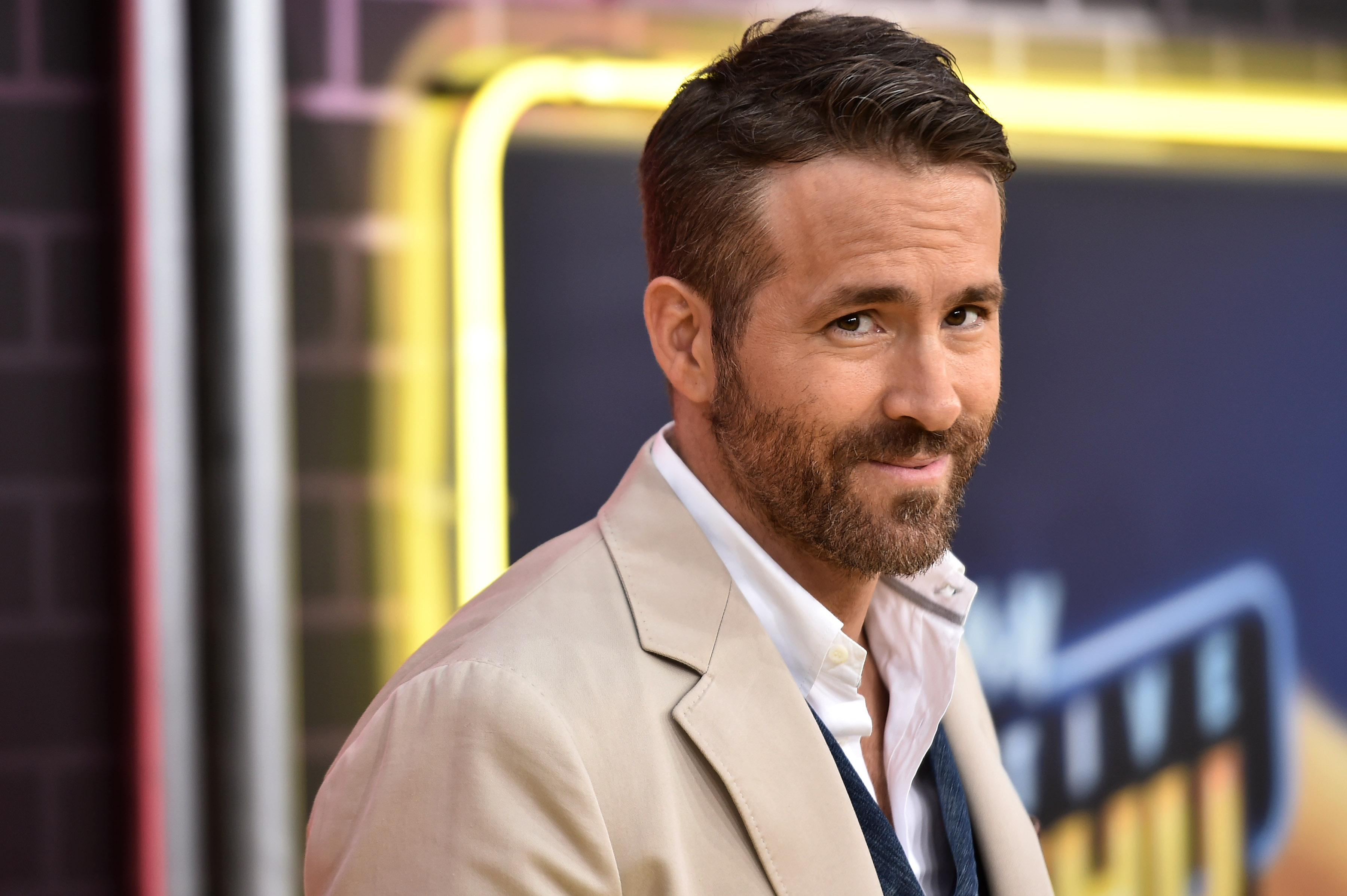 Ryan Reynolds attends the premiere of  Pokemon: Detective Pikachu  in Times Square on May 2, 2019 in New York City.