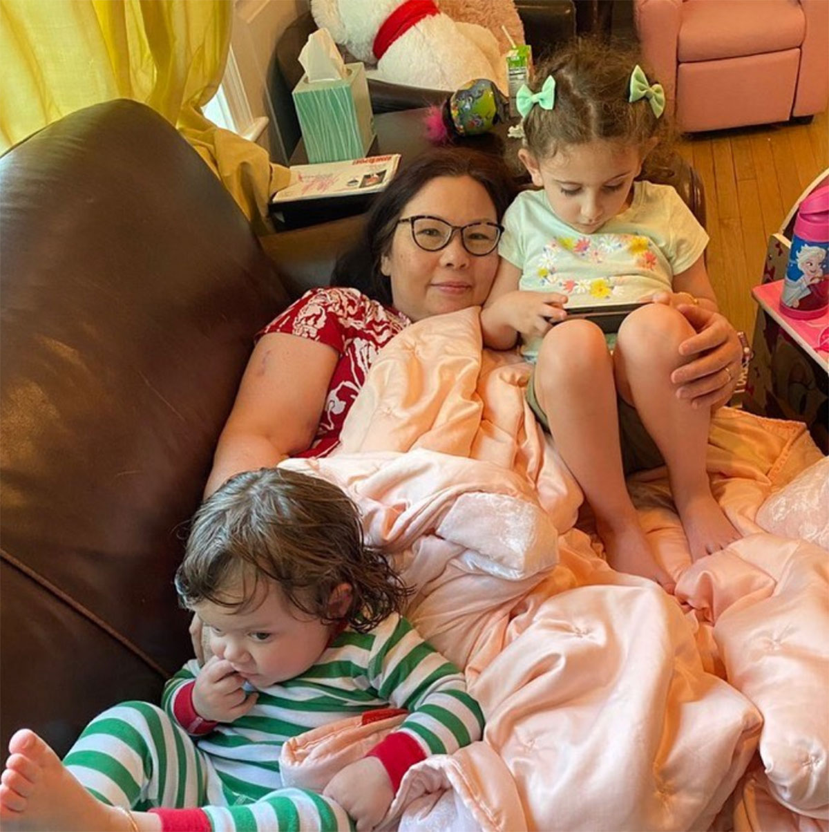 Senator Duckworth posted this picture on her Instagram feed with the caption,  Payoff for all the homeschooling, trying to work from home w/screaming babies & general chaos of quarantine .