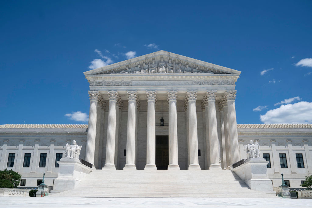 Photo taken on July 14, 2020 shows the U.S. Supreme Court building in Washington, D.C.