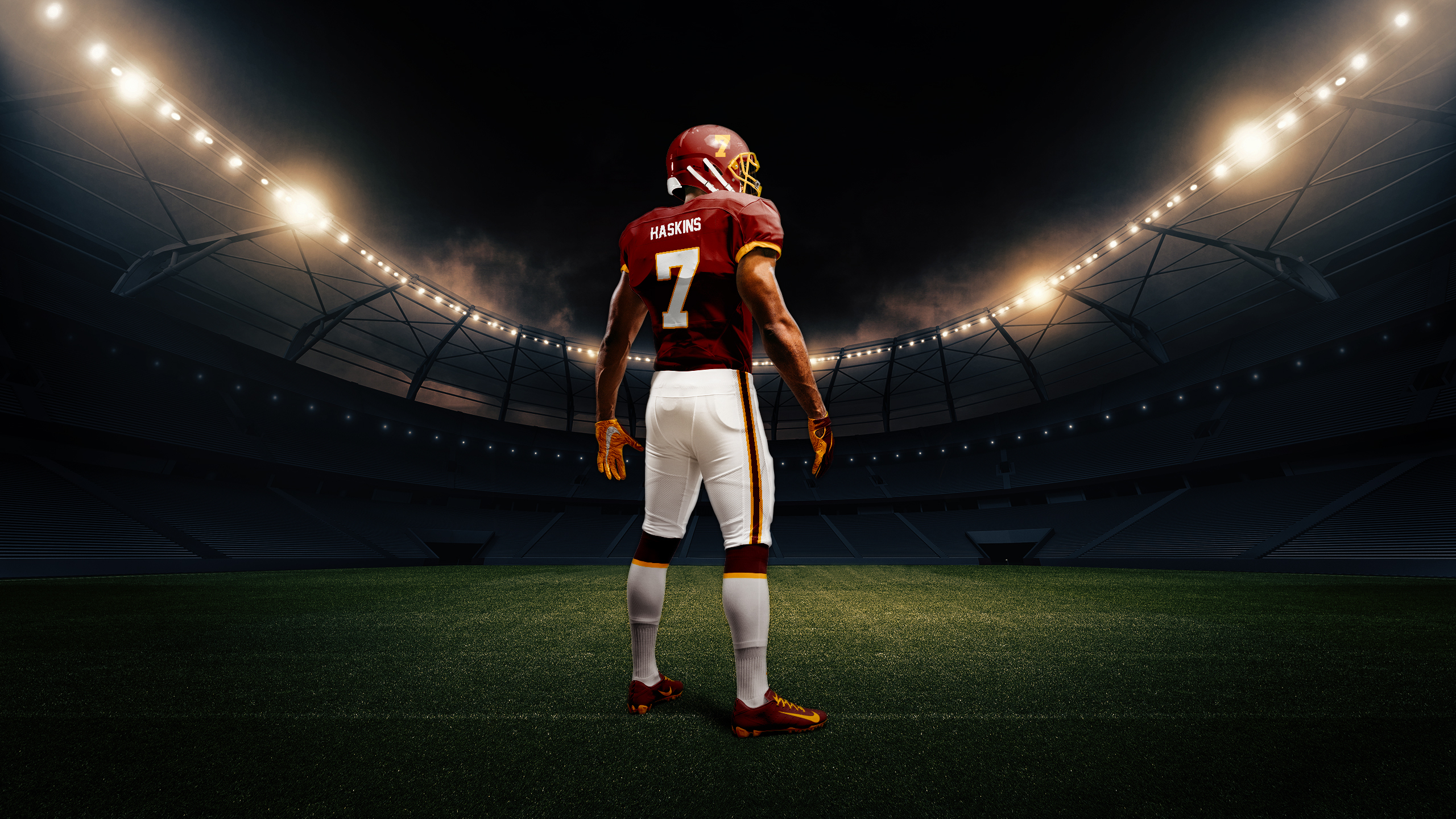 This artist's rendering provided by the Washington Football team shows the back of the NFL football team's new burgundy uniform.