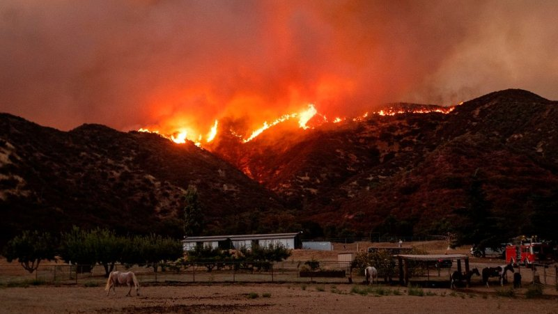 7,800 Evacuated Due to California Fire