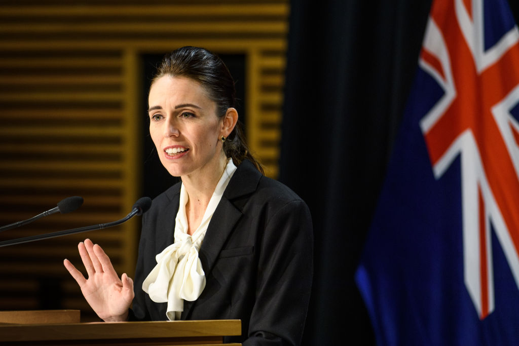 Prime Minister Jacinda Ardern speaks with media on August 13, 2020 in Wellington, New Zealand. COVID-19 restrictions have been reintroduced across New Zealand after four new COVID-19 cases were diagnosed in Auckland. Auckland has been placed in Level 3 lockdown for three days from Wednesday 12 August, with all residents to work from home unless they are essential workers and all schools and childcare centres are closed. The rest of New Zealand has returned to Level 2 restrictions. The new cases are all in the same family, with health authorities working to trace back the source of the infection.