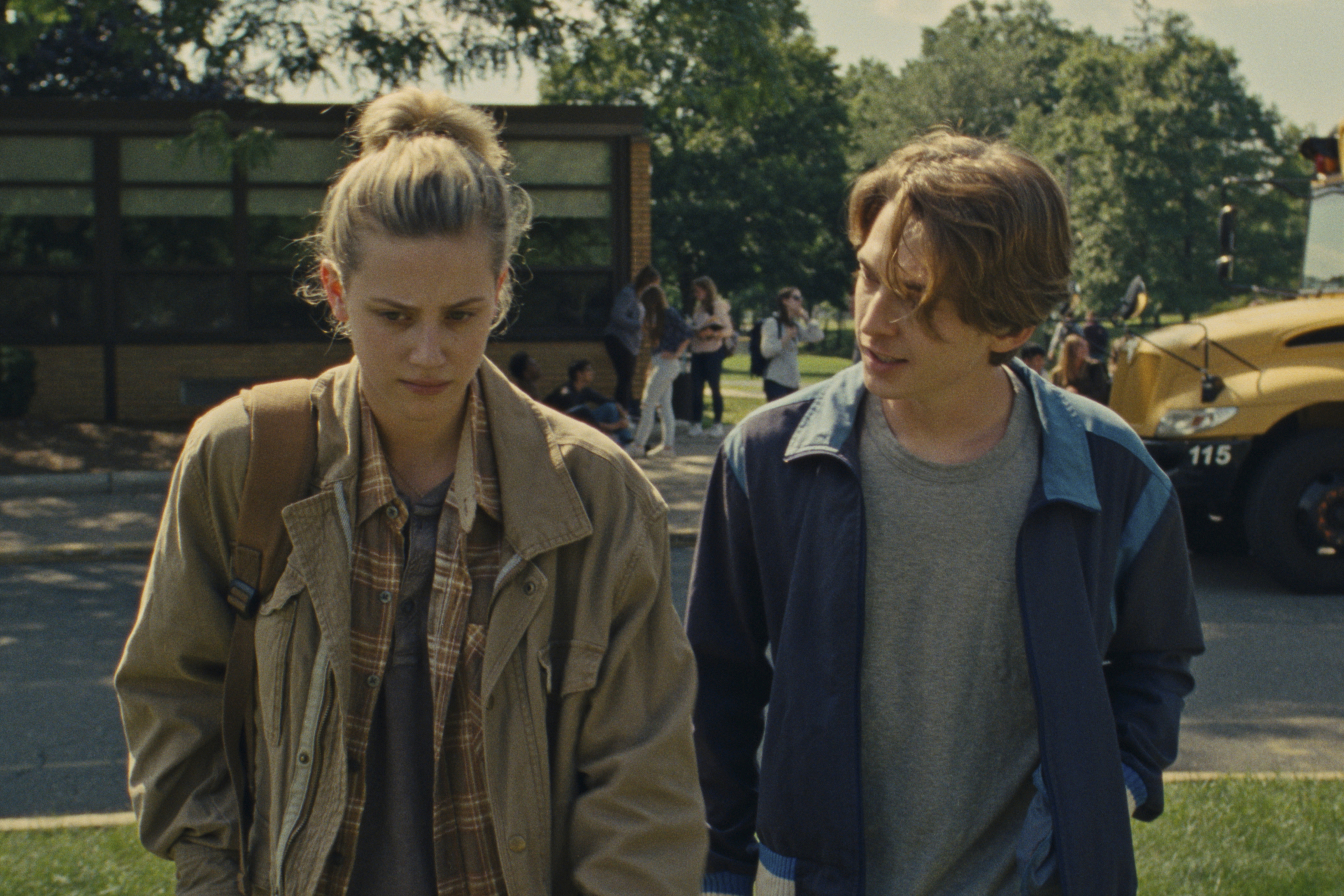 Lili Reinhart as Grace Town and Austin Abrams as Henry Page in 'Chemical Hearts.'
