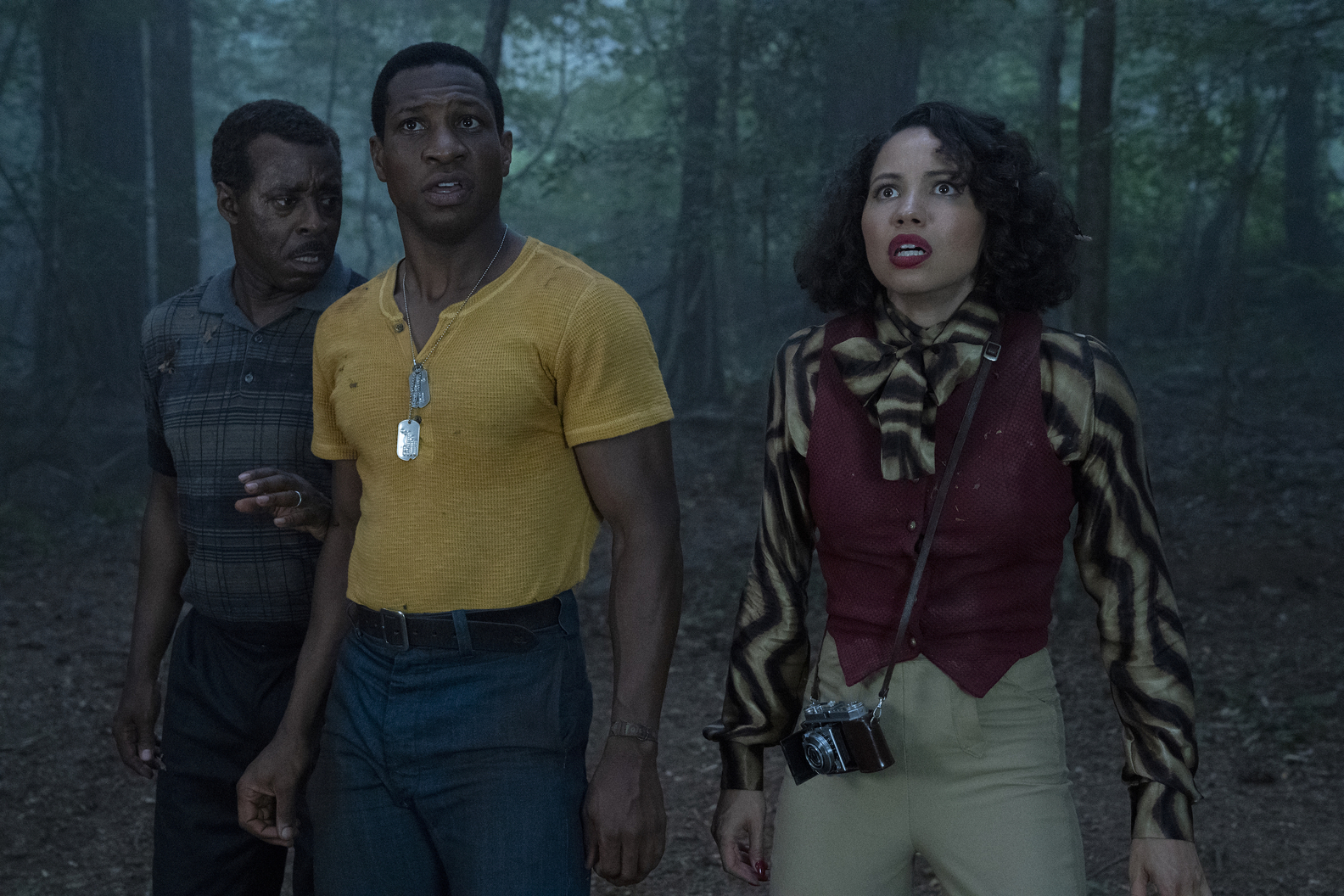 Courtney B. Vance, Jonathan Majors and Jurnee Smollett in 'Lovecraft Country'