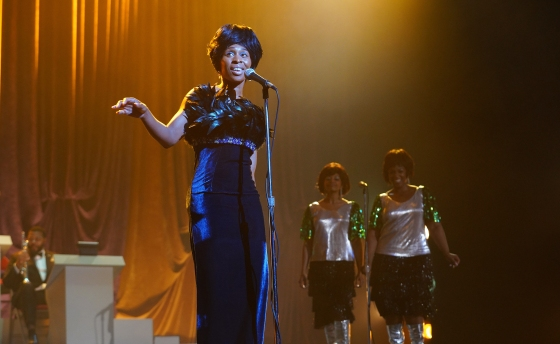 L to R: Cynthia Erivo as Aretha Franklin, Rebecca Naomi Jones as Carolyn Franklin and Patrice Covington as Erma Franklin in National Geographic's GENIUS: ARETHA. (Credit: National Geographic/Richard DuCree)