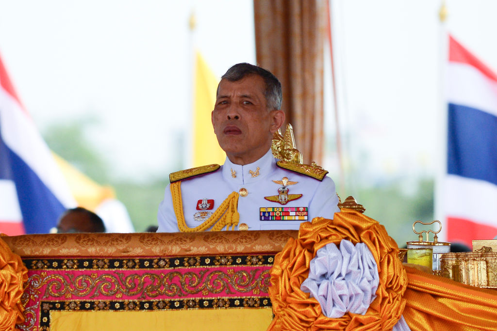 Thai King Maha Vajiralongkorn presides over the annual royal ploughing ceremony at the Sanam Luang park in Bangkok, Thailand, on May 9, 2019.