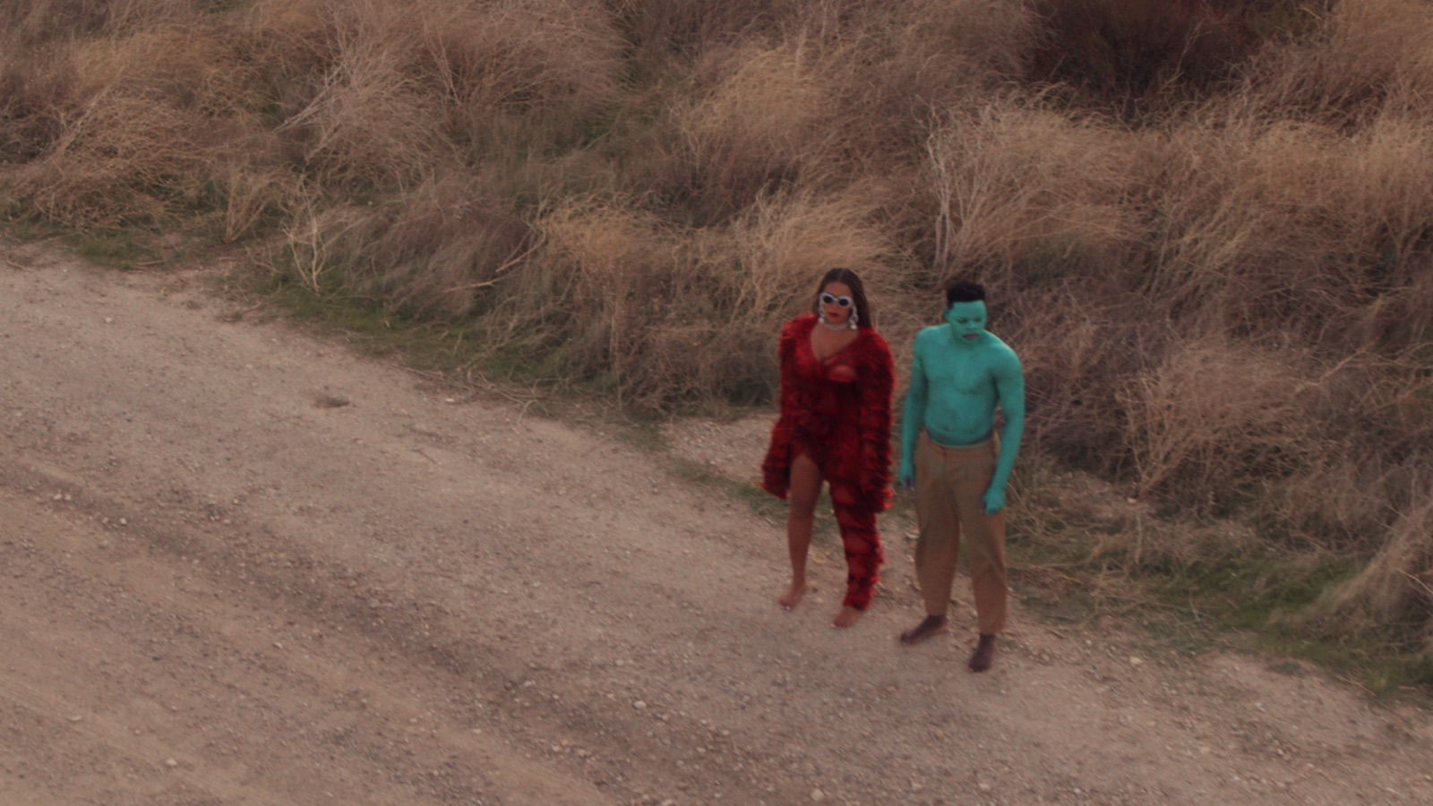 A scene from  Black is King,  with Beyoncé and Stephen Ojo.