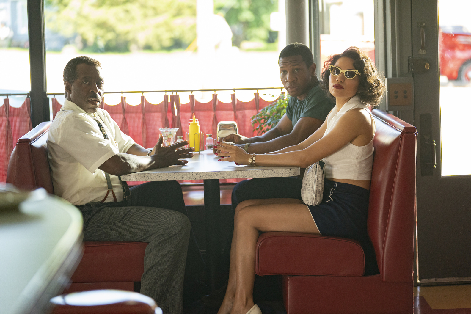 Courtney B. Vance, Jonathan Majors and Jurnee Smollett in 'Lovecraft Country'