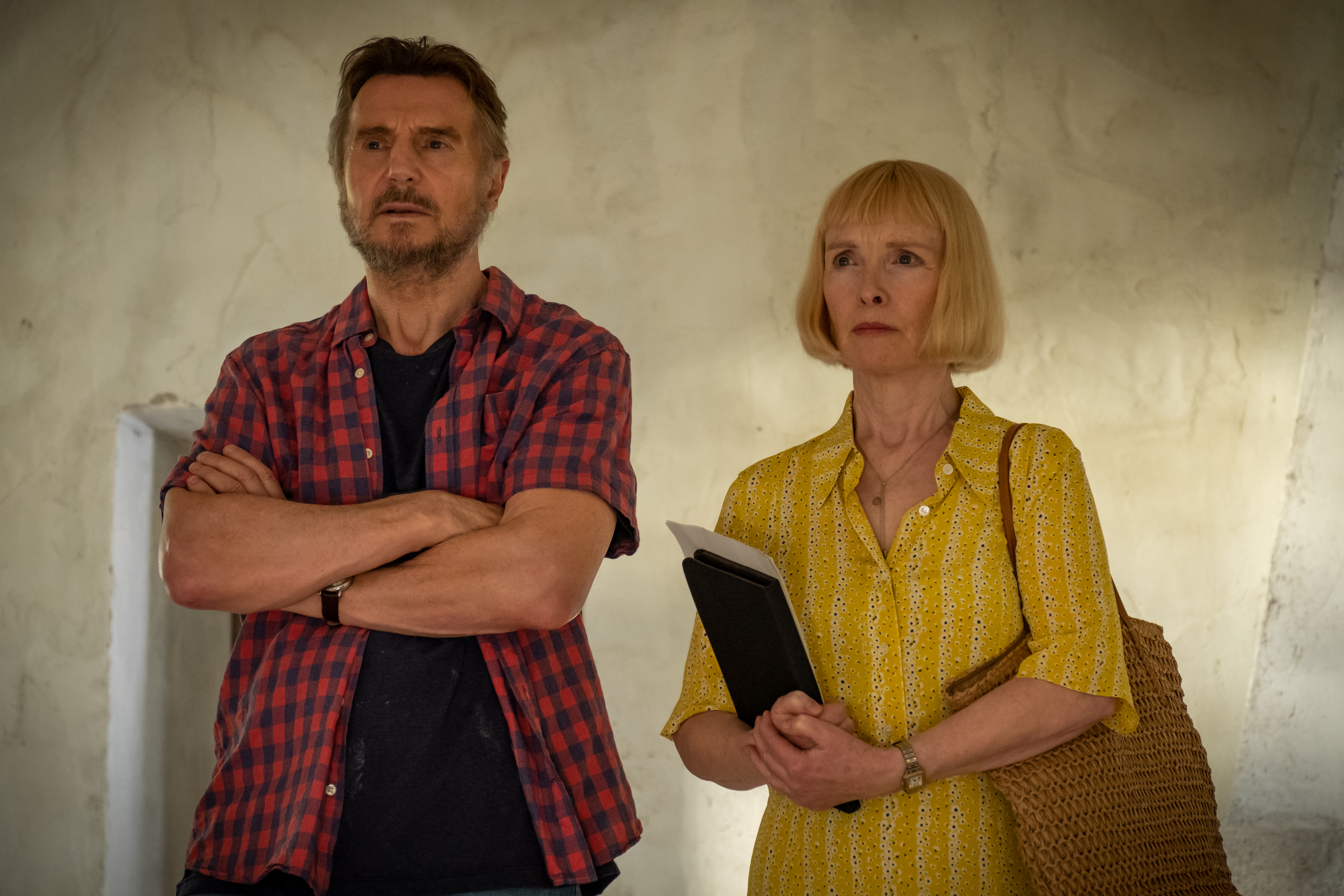 Liam Neeson and Lindsay Duncan in 'Made in Italy'