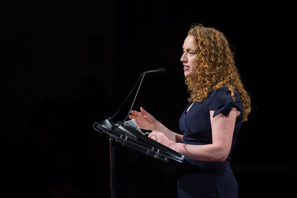 PEN America CEO Suzanne Nossel speaks at the 14th Annual PEN World Voices Festival at The Great Hall at Cooper Union on April 22, 2018 in New York City.