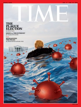 The Plague Election Time Magazine Cover