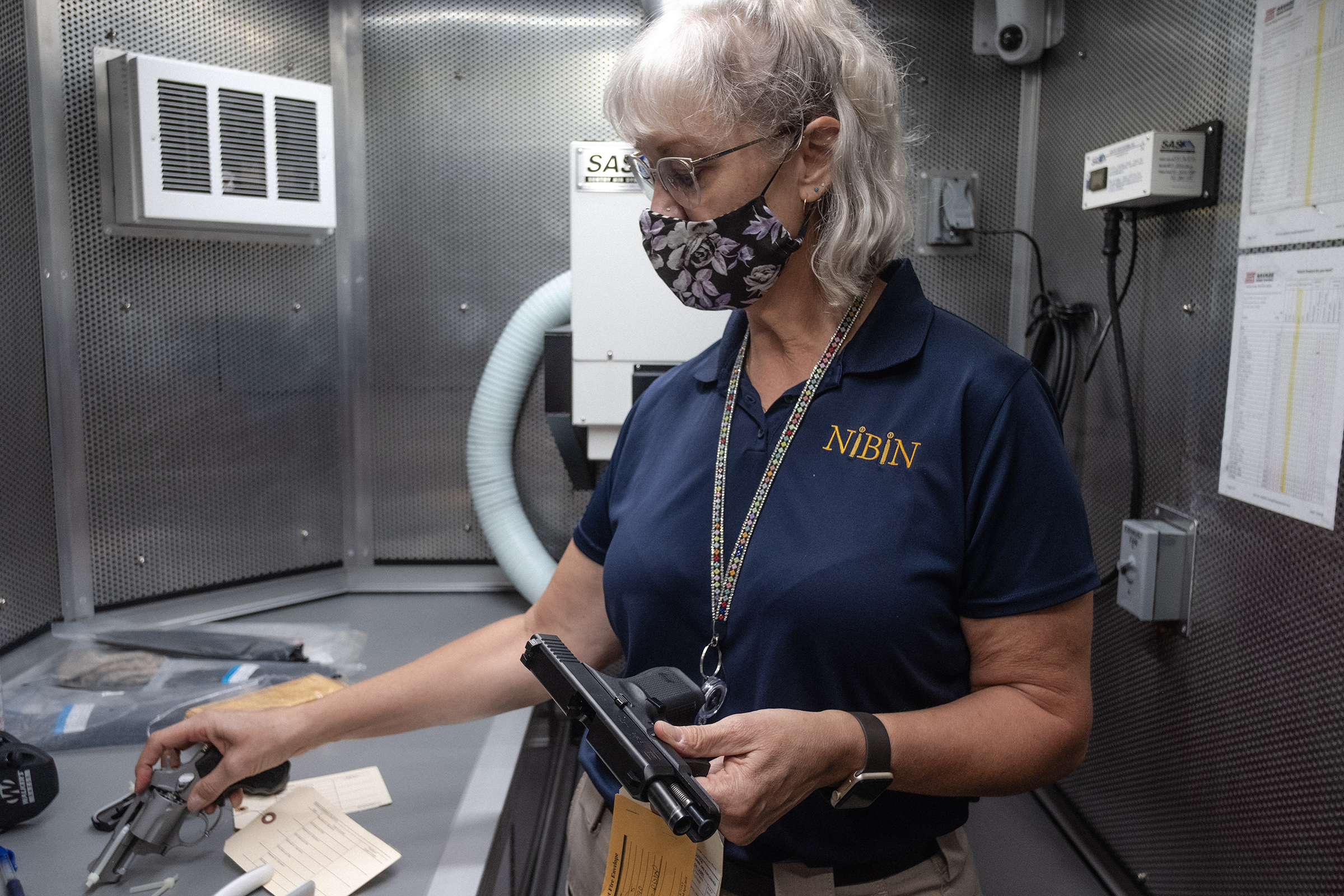 ATF technician Jill Jacobson is a member of a team of specialists sent to Chicago as part of the Operation Legend task force