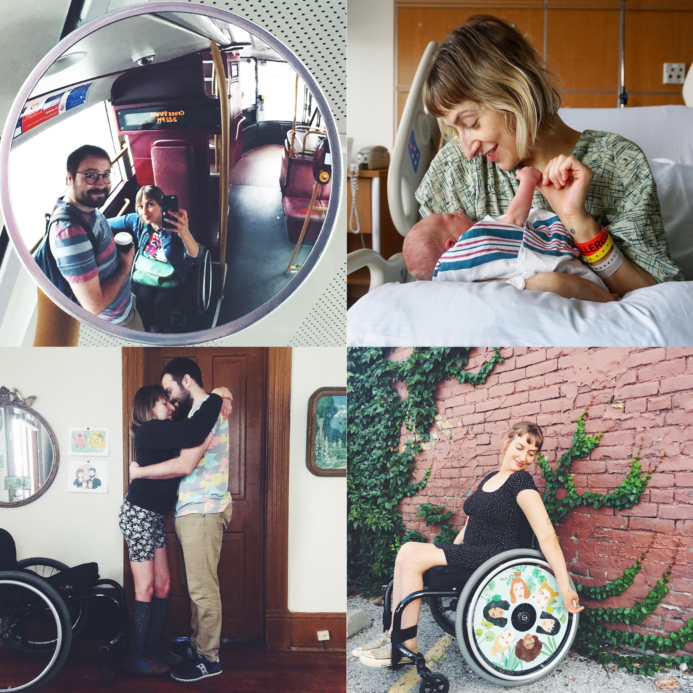 "Taussig shares photos and ""mini memoirs"" narrating her life, which includes her husband Micah and new baby Otto, on Instagram"