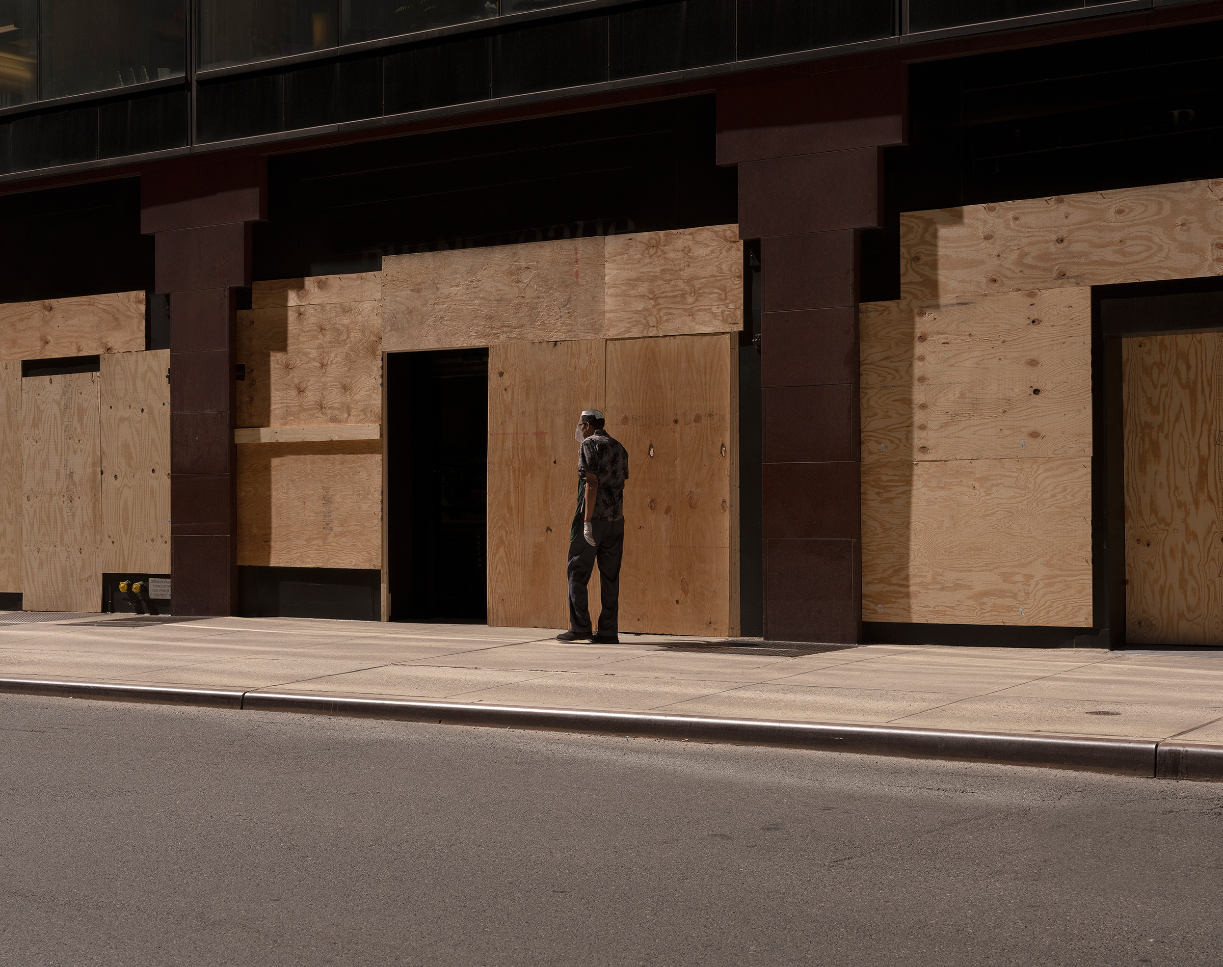 Businesses remain boarded up in mid-Manhattan, with U.S. unemployment at 11.1% in June
