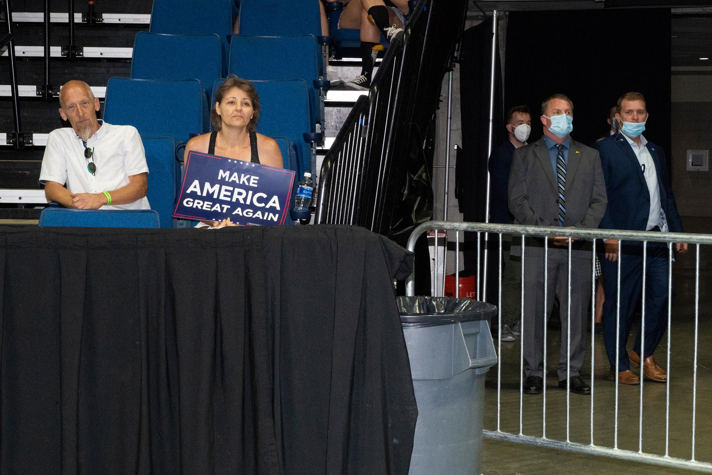 Trump supporters at his rally in Tulsa, Okla., on June 20