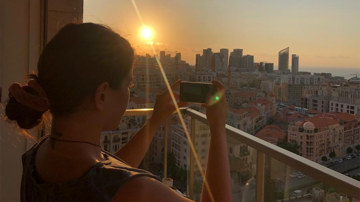 Motran captures the view from her apartment in Beirut.