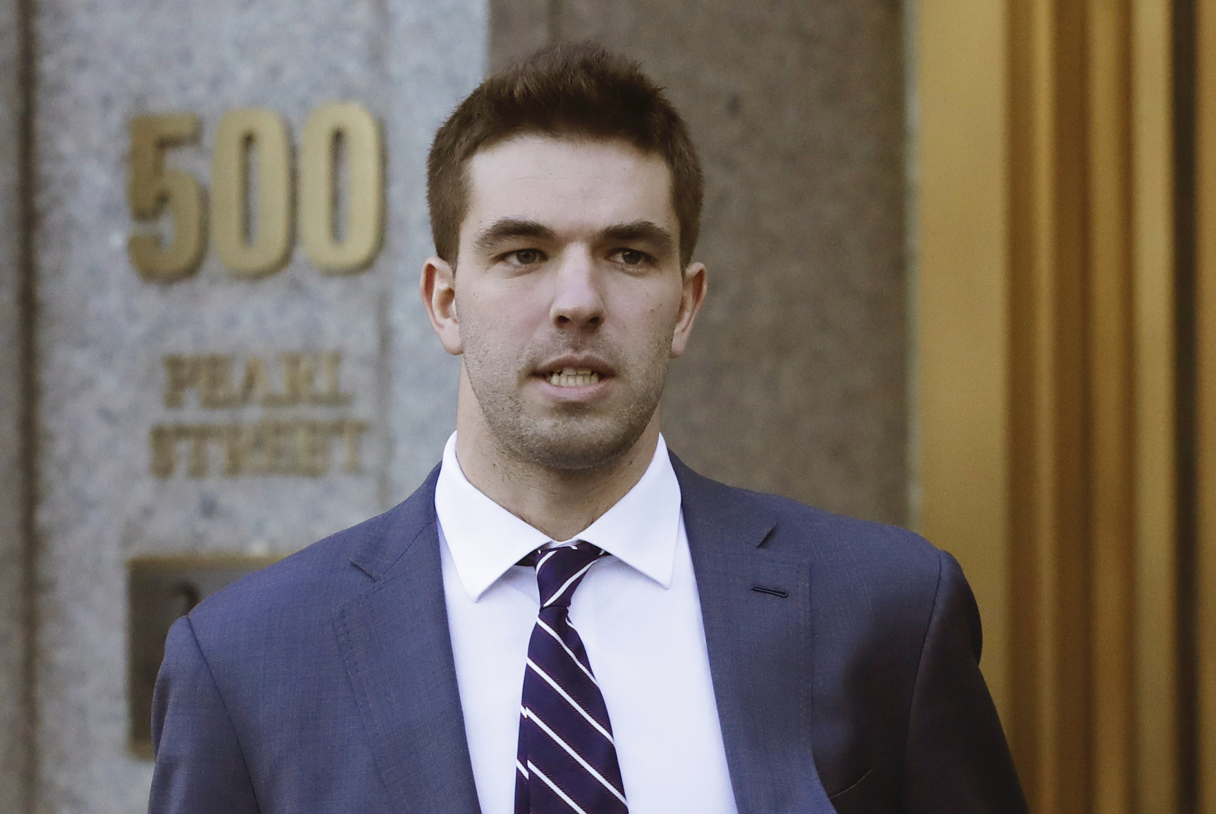 Billy McFarland, the promoter of the failed Fyre Festival in the Bahamas, leaves federal court after pleading guilty to wire fraud charges in New York, on March 6, 2018.