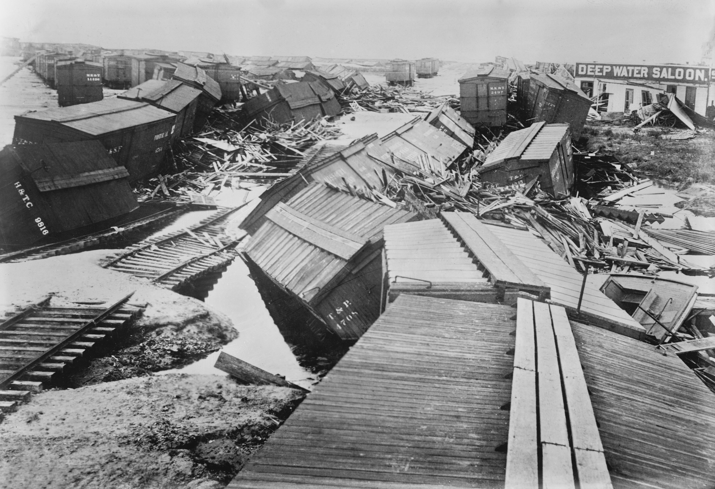 Destruction in Galveston, Texas, after the great hurricane of 1900.