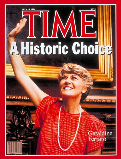 The July 23, 1984, cover of TIME with Geraldine Ferraro.