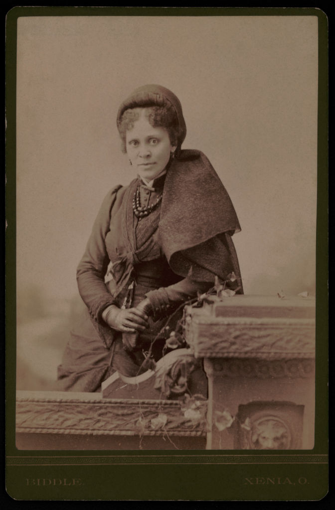 Circa 1880s portrait of Hallie Quinn Brown, African-American educator, writer and activist.