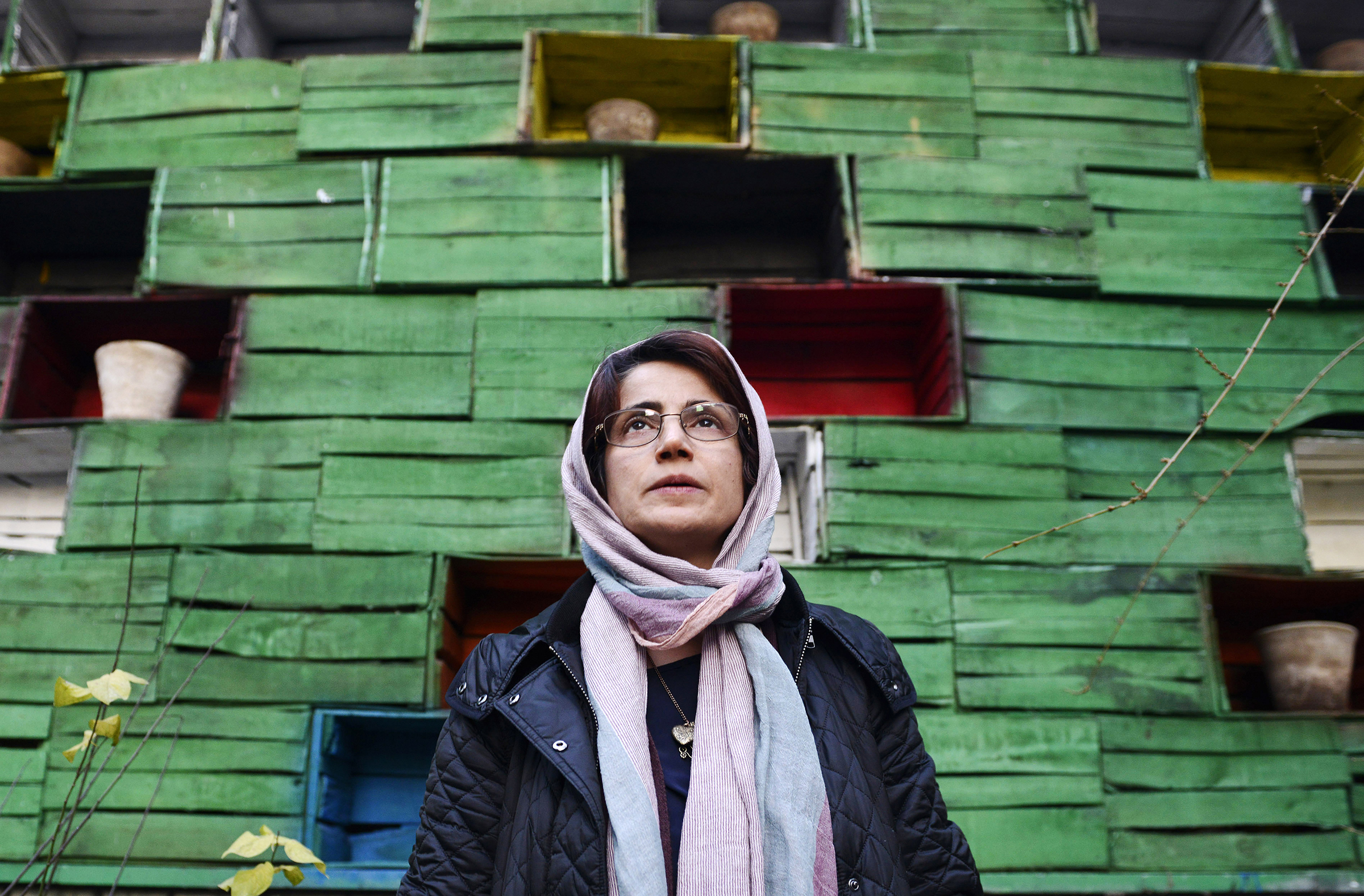Human rights lawyer Nasrin Sotoudeh photographed in the garden of her office in Tehran on Dec. 9, 2014.