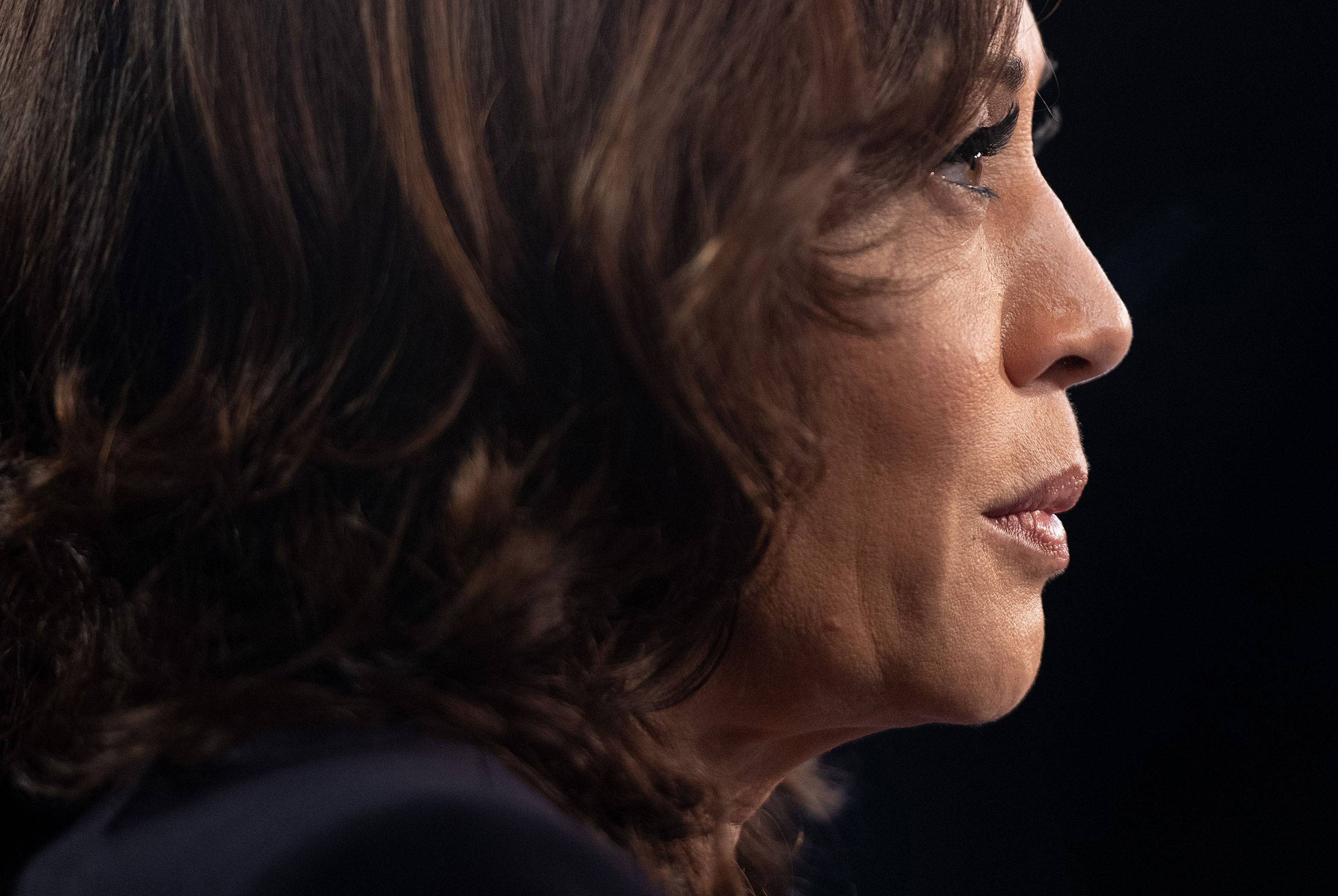 Sen. Kamala Harris in the Spin Room after the second Democratic primary debate of the 2020 presidential campaign.