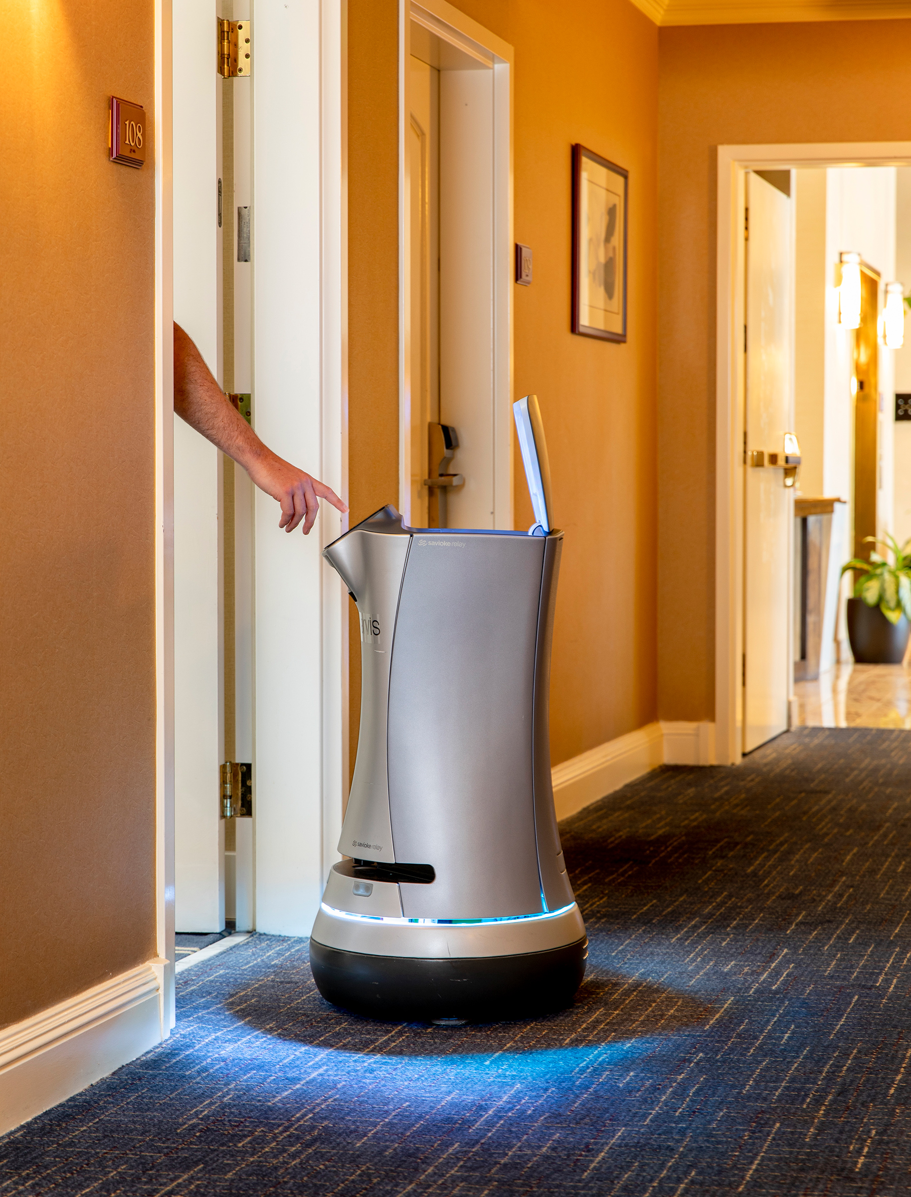 Jarvis the robotic butler on duty at the Grand Hotel in Sunnyvale, Calif., on July 30