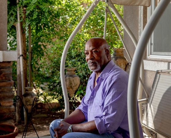 """Larry Collins, at home in Lathrop, Calif., on July31, was a bridge toll collector until COVID-19 led the state to automate the job to protect employees and drivers. """"I just want to go back to what I was doing,"""" says Collins, whose job is among the millions that economists say could be lost forever as companies accelerate moves toward automation."""