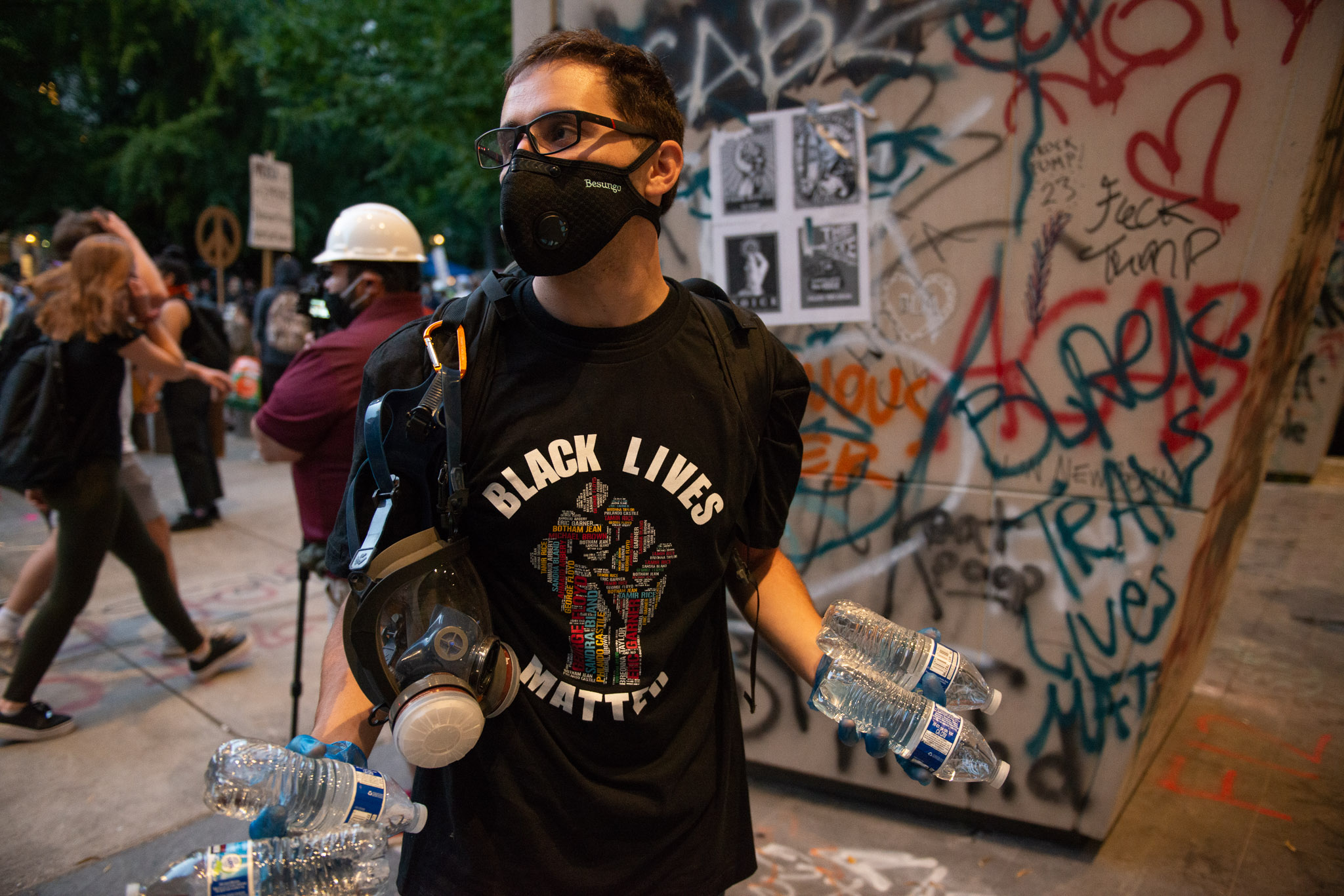 Michael Martinez, a graduate student at OHSU who has been volunteering as a street medic during Portland's Black Lives Matter protests.