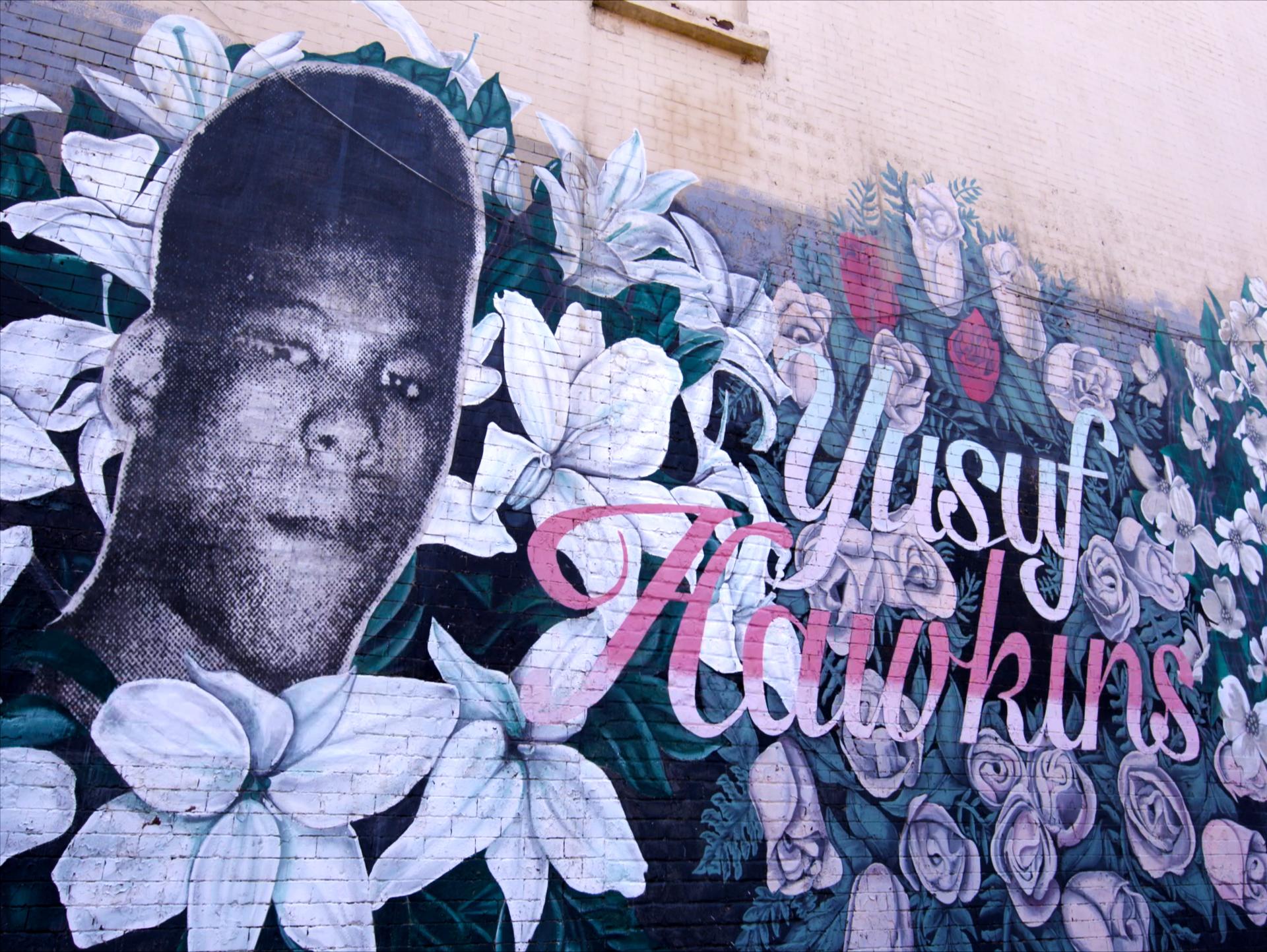 Mural dedicated to Yusuf Hawkins in Bedford-Stuyvesant, Brooklyn