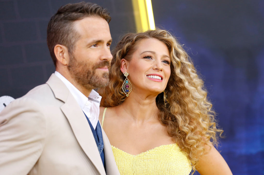 Ryan Reynolds and Blake Lively attend  Pokemon Detective Pikachu  U.S. Premiere at Times Square on May 02, 2019 in New York City.