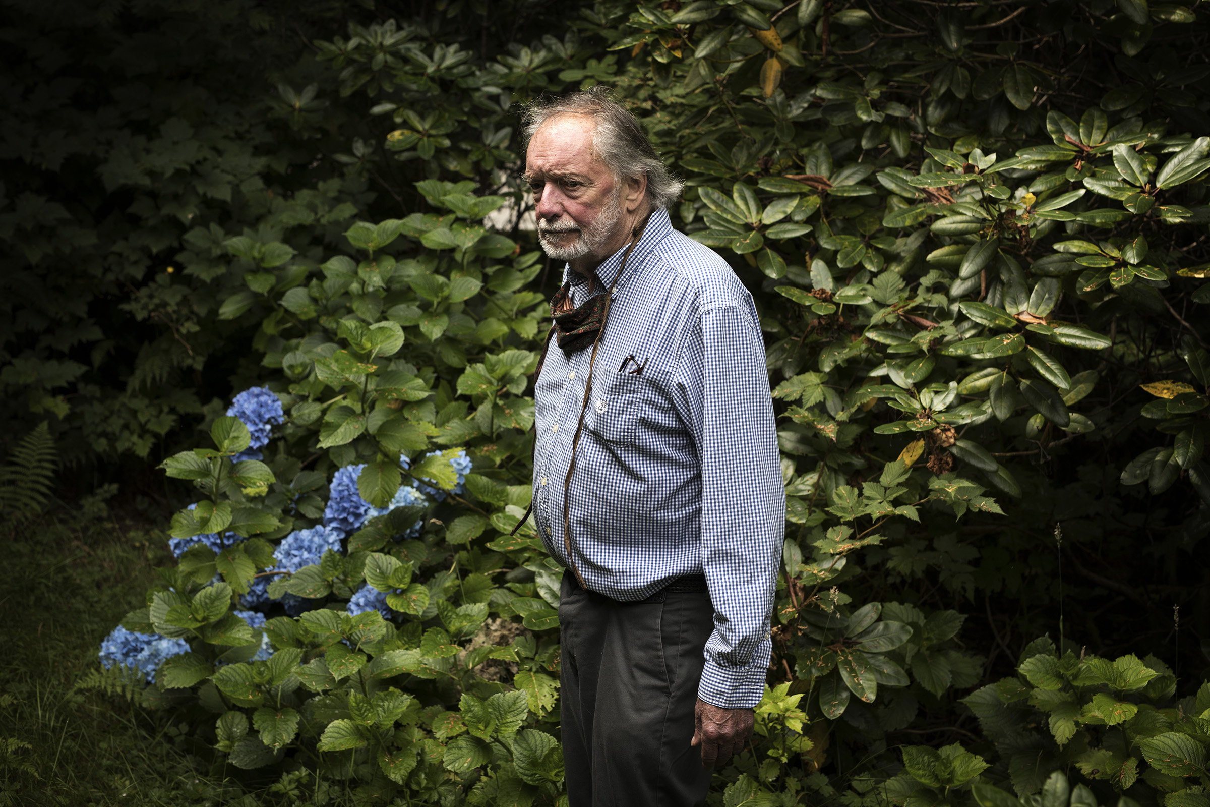 Louis Druehl poses for a photo outside his home in Bamfield, on Vancouver Island. The 83-year-old botanist has been studying kelp since 1962 and was the first person to create a kelp farm outside of Asia.