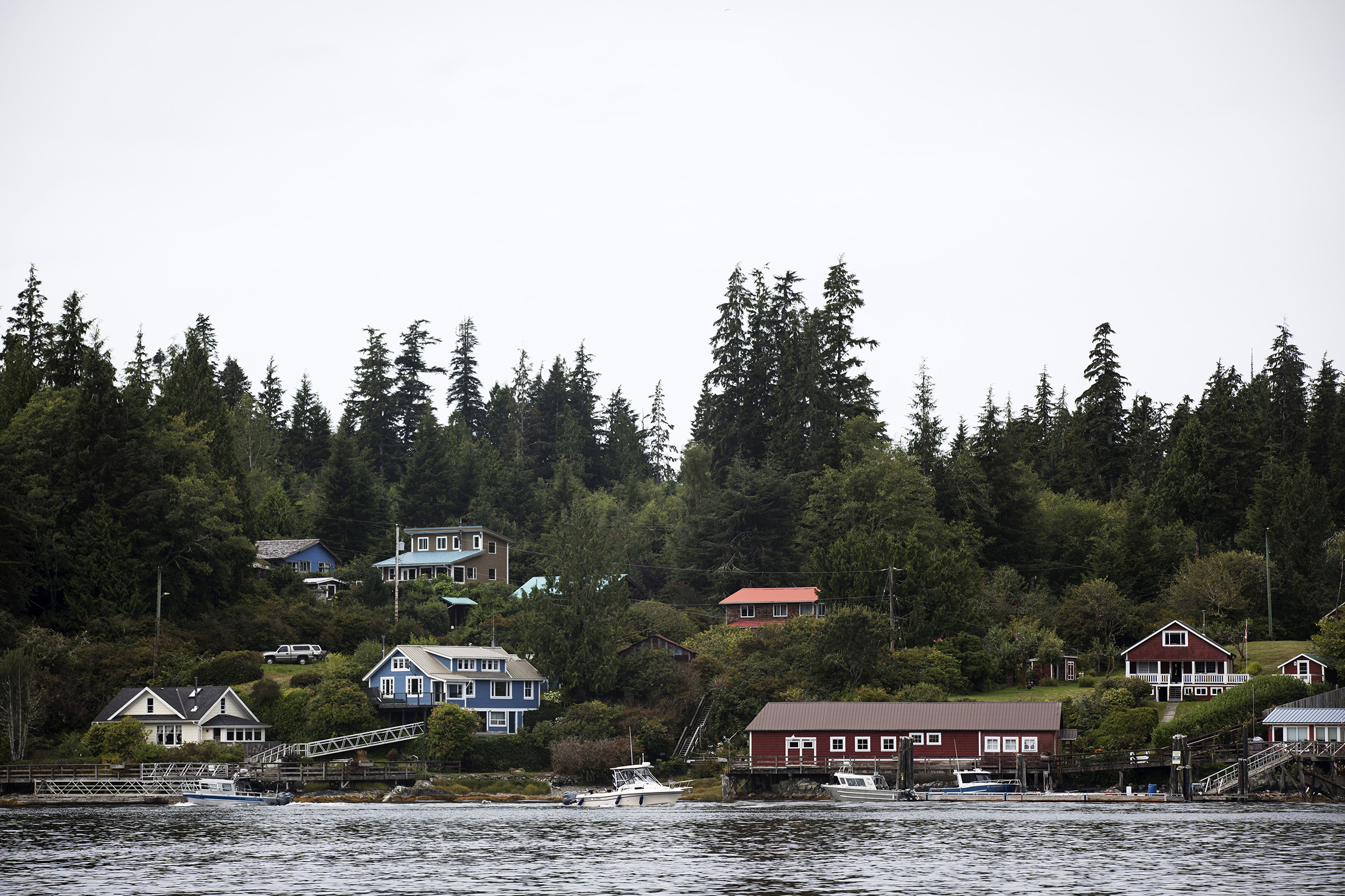 The small town of Bamfield sits on the western edge of the Canadian coast on Vancouver Island.