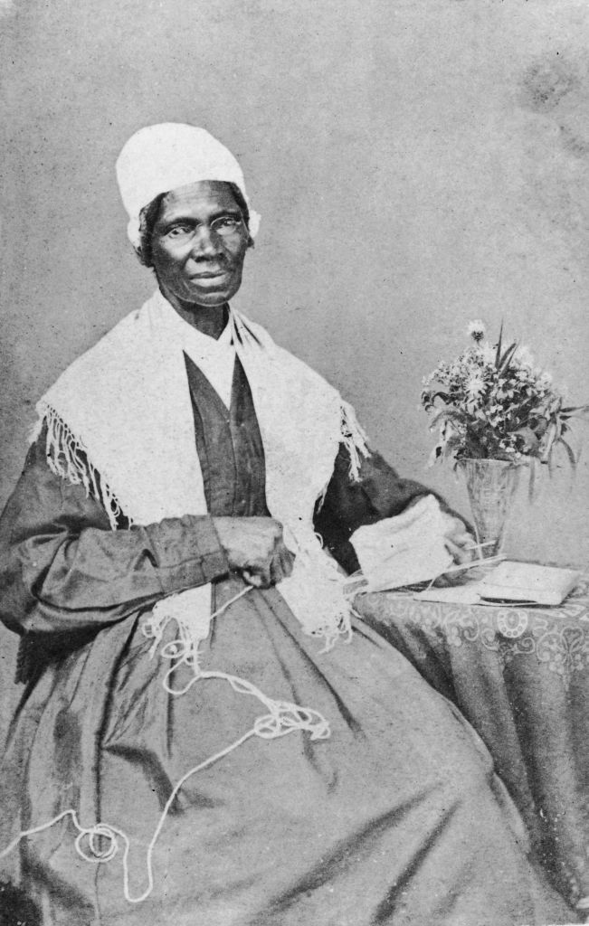 A circa 1880 portrait of American abolitionist and feminist Sojourner Truth.