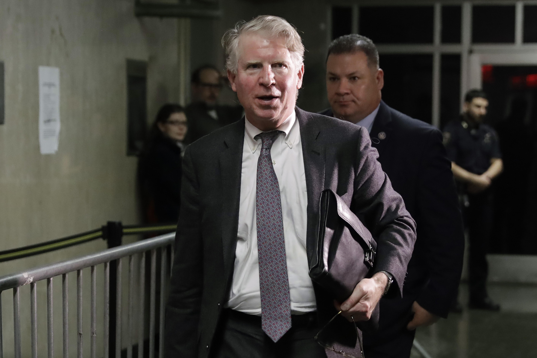 Manhattan District Attorney Cyrus Vance Jr. leaves court, in New York on Feb. 7, 2020.
