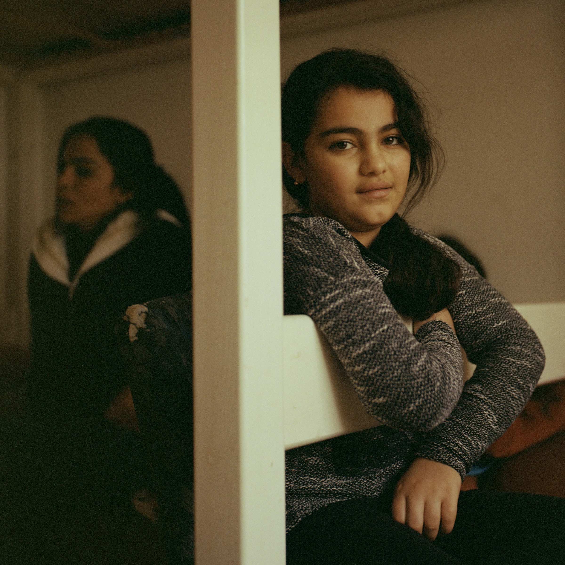 Berivan, Hanan's 10-year-old daughter, at home.