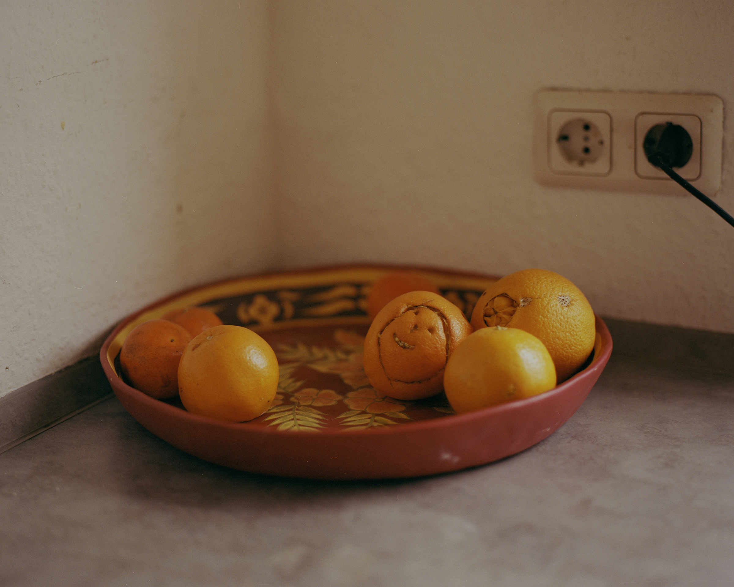 Oranges in Hanan's kitchen.